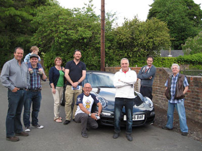 CAR CLUB MEMBERS BEFORE LEAVING FOR CHOLMONDELEYS PAGEANT OF POWER